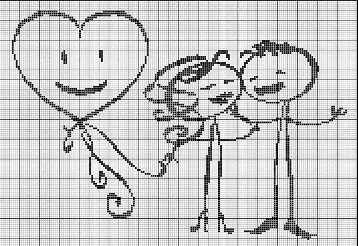 Cross stitch patern: Les_amoureux___la_f_te, http://ludivineuh.canalblog.com