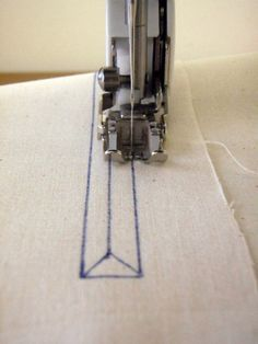 At home with Mrs H: How to sew a zipped pocket