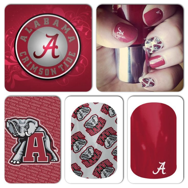Alabama Football, Nail wraps, Roll Tide Get your jam on for the game :)