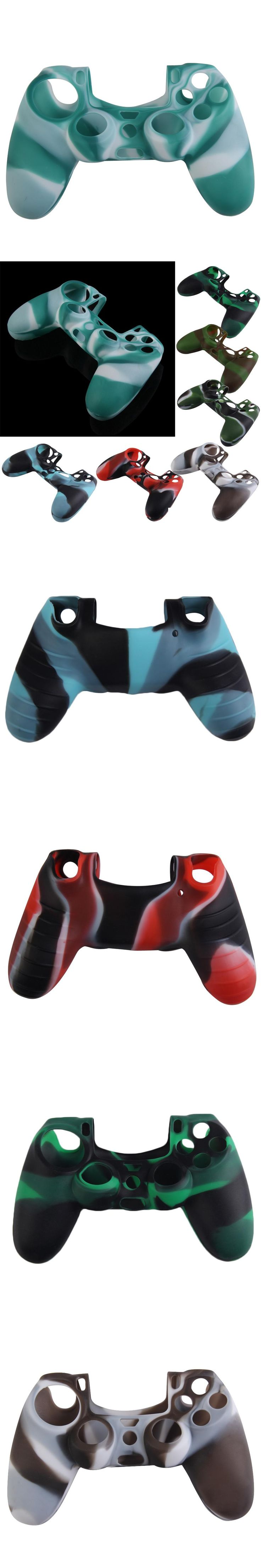 Silicone Gamepad Skin Cover Case Camouflage Color Anti-Slip Game Controller Protector Case Shell for PlayStation 4 PS4