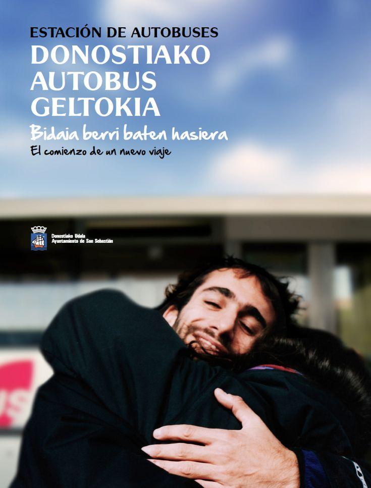 Campaña publicitaria para promocionar la nueva estación de autobuses de San Sebastián, creada por adaki - adakikomunikazioa