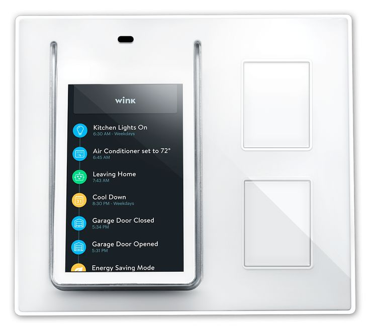 Wink's Relay is a wall mounted touchscreen panel that fits easily into a light switch socket.   Read more: http://www.digitaltrends.com/home/wink-relay-smart-home-control-panel/#ixzz3E9XCHALz  Follow us: @digitaltrends on Twitter | digitaltrendsftw on Facebook