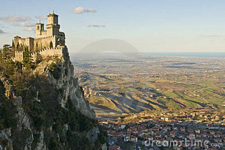 San Marino. La Toscana. Italia