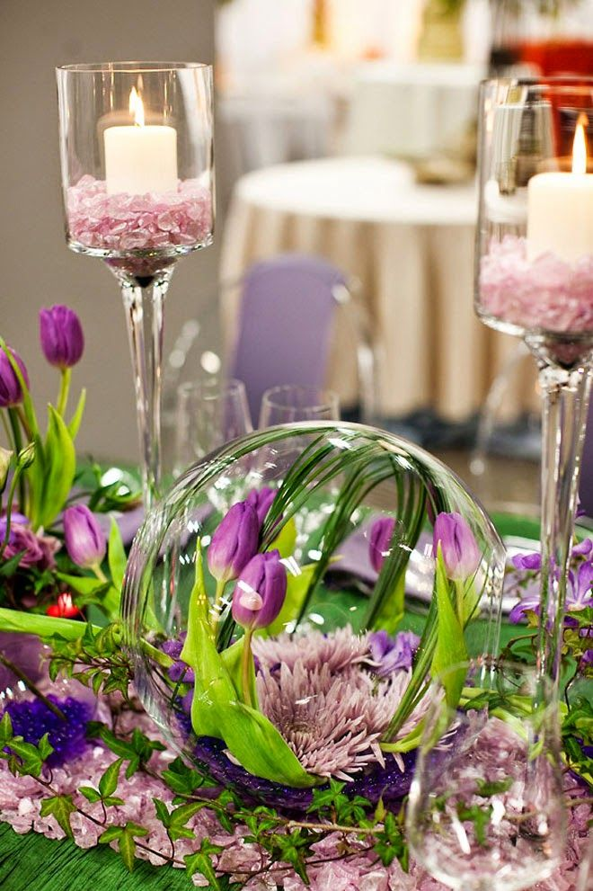 This shades of purple ~ 12 Stunning Wedding Centerpieces - 25th Edition | bellethemagazine.com