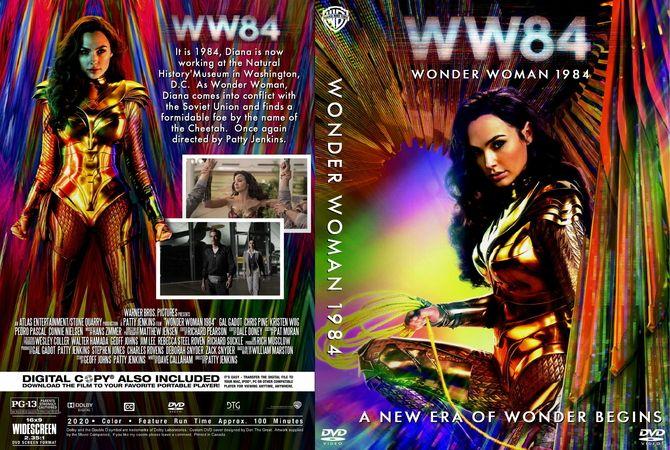 Wonder Woman 1984 2020 In 2020 Dvd Cover Design Custom Dvd Wonder Woman