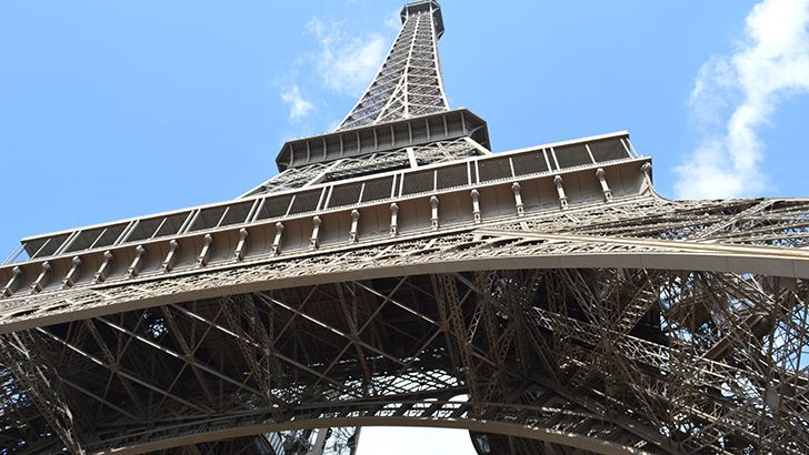 Under the Eiffel Tower  http://5kwallpapers.com/wall/under-the-eiffel-tower  #eiffel #tower #paris #sky #blue #france