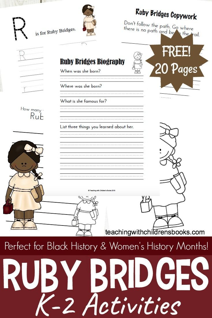 Whether youre celebrating black history month or womens history month these ruby bridges activities and printables will make a great addition to your