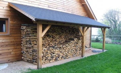 L'appenti de jardin, solution simple et légère pour abriter voiture, bois de chauffage, ...   Appentis ou auvent de jardin