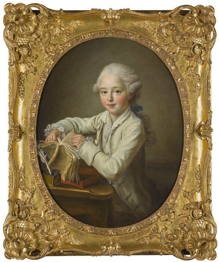 Portrait of the marquis de Briges, aged seven, 1768 by Francois Hubert Drouais (1727-1775)