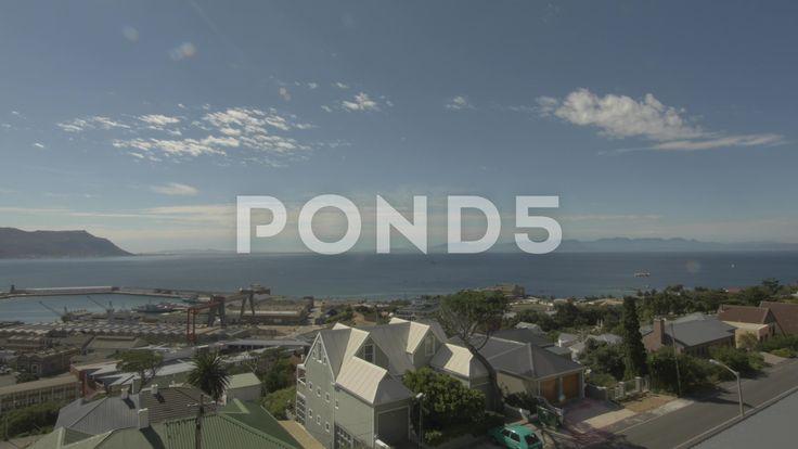 4k Beautiful View Blue Water Ocean Mountains In Background Pier - Stock Footage | by RyanJonesFilms