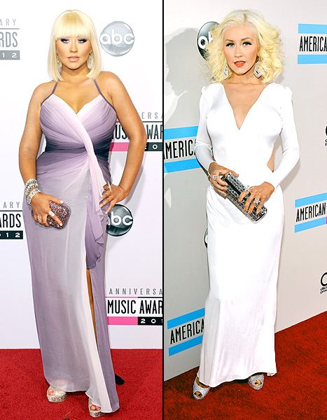 Christina Aguilera Shows Off Stunning Weight Loss at the 2013 American Music Awards, See the Transformation From Last Year's Show: Pictures