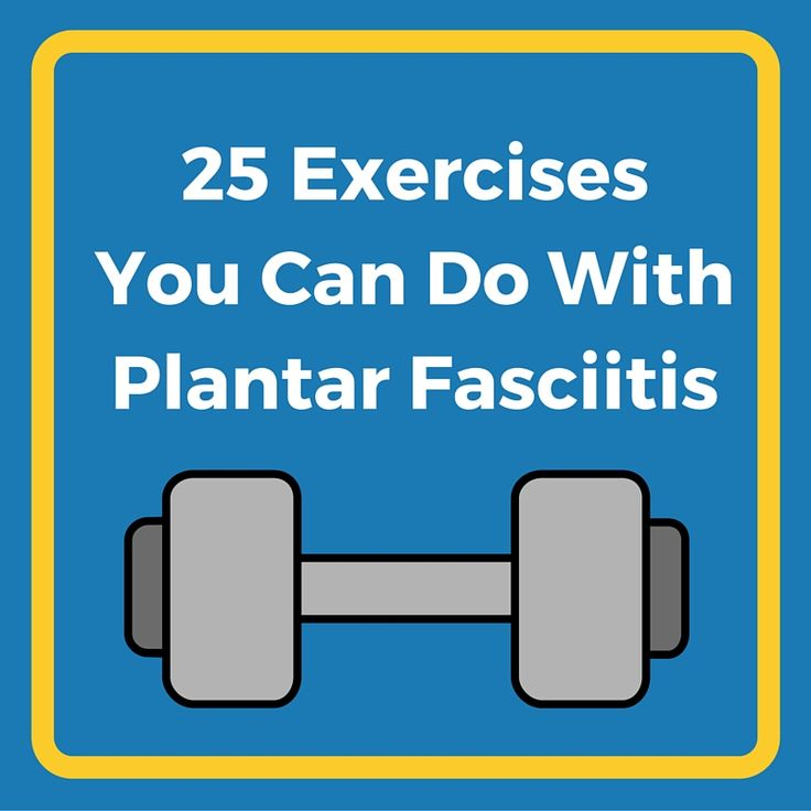 Make weight loss a whole lot easier with these 25 plantar fasciitis-friendly exercises for strength and cardio! Pin to save for later.