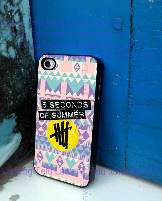 aztec 5 second of summer 5sos band logo cover iphone 4/4s case, iphone 5 case, iphone 5s case, iphone 5c case, samsung galaxy case on Etsy, $12.99