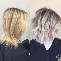Passage du blond chaud au blond froid!