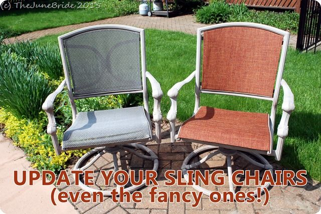 How To Reupholster Patio Sling Chairs For The Home