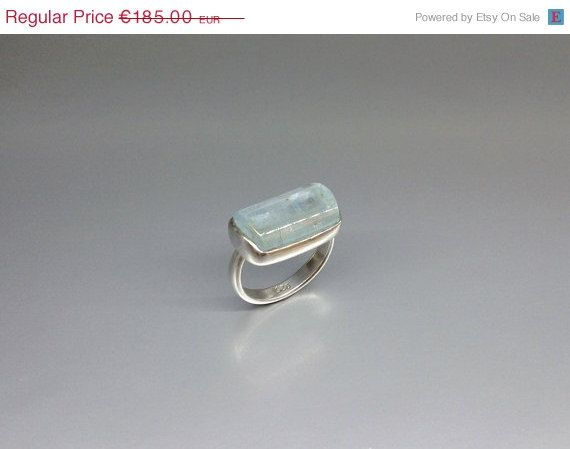 Bright, milky and natural Aquamarine set in Sterling silver by gemoryprague. Explore more products on http://gemoryprague.etsy.com