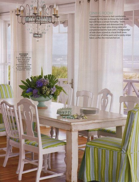 Love the different styled chairs but all matching color