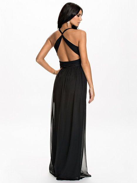 Empire Maxi Dress - Nly Eve - Czarny - Sukienki Wieczorowe - Odziez - Kobieta - Nelly.com