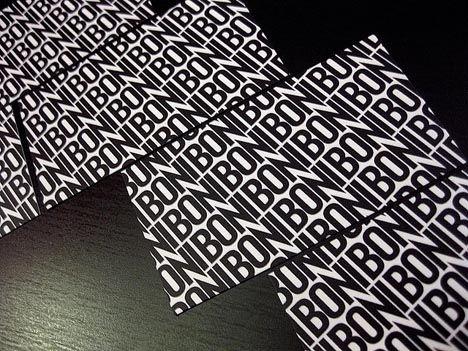 Typography Boni Pattern Business Card_1
