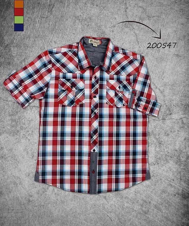camisa-hombre-manga-corta-a cuadros-shirt-short-sleeve-checkered-200547
