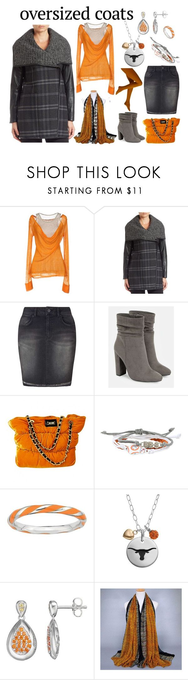 """Chic Oversized Coats"" by miriam-witte ❤ liked on Polyvore featuring Pianurastudio, Vera Wang, Miss Selfridge, JustFab, Moschino Cheap & Chic, Disney, Stacks and Stones, Fiora and Lotopia"