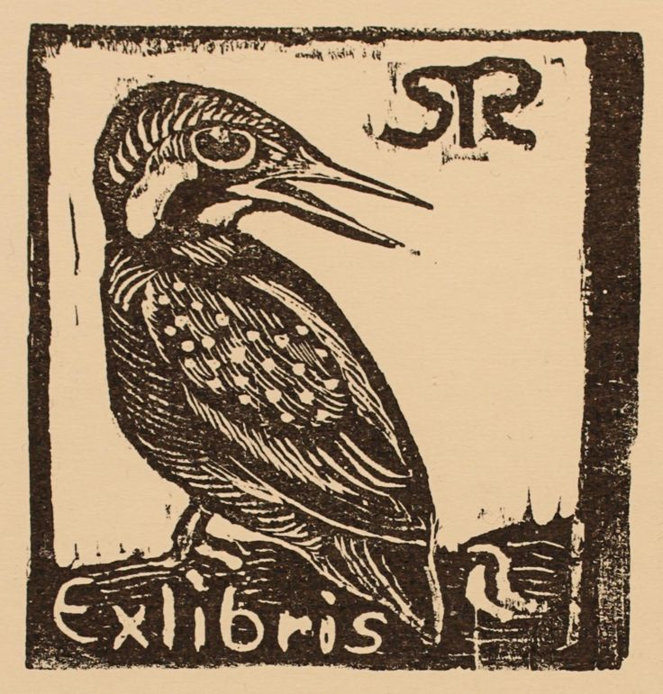 Perfect Exlibris by Leif Ryding from Denmark for