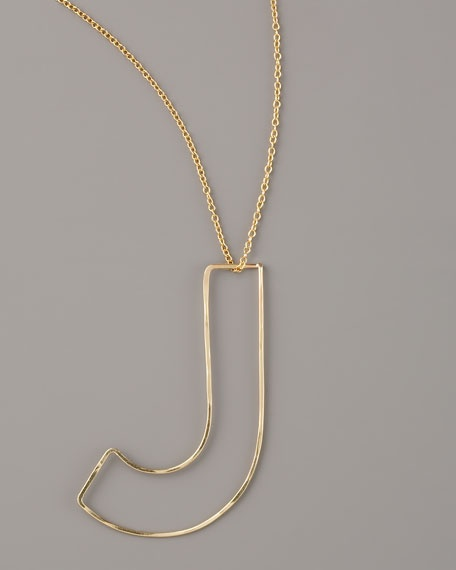 GaugeNYC Letter-Pendant Necklace, $75: Letters Pendants Necklace, Letters Pend Necklaces
