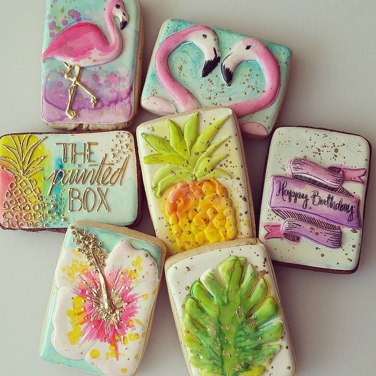 Pineapple Decorated Cake: 17 Best Images About Tropical/Luau Cookies On Pinterest