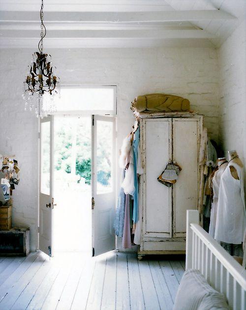 White: Interior Design, Decor, Inspiration, Sweet, Shabby Chic, Wardrobe, House, Space, Bedroom