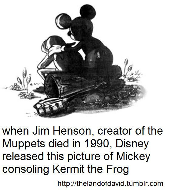 My two great loves. Disney and the Muppets