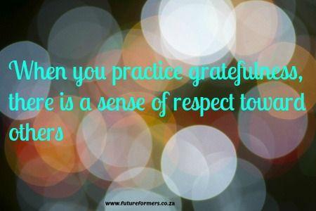 Gratefulness and respect