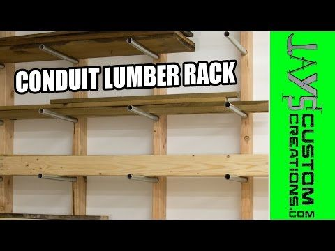 Inexpensive Conduit Lumber Rack | Jays Custom Creations. Garage Storage ...