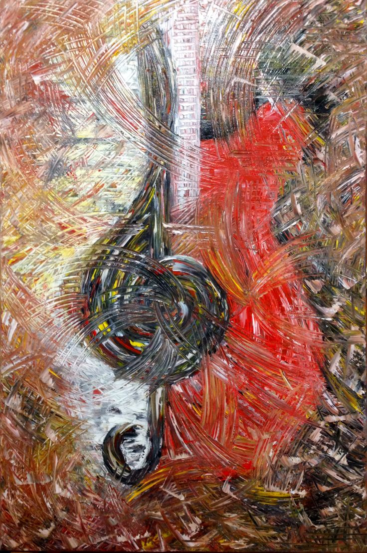 """""""Melody"""" Original, oil painting signature style created by Elena Hajda 24in x 36in https://www.etsy.com/listing/188959764/melody-palette-knife-painting-music?ref=shop_home_active_9"""