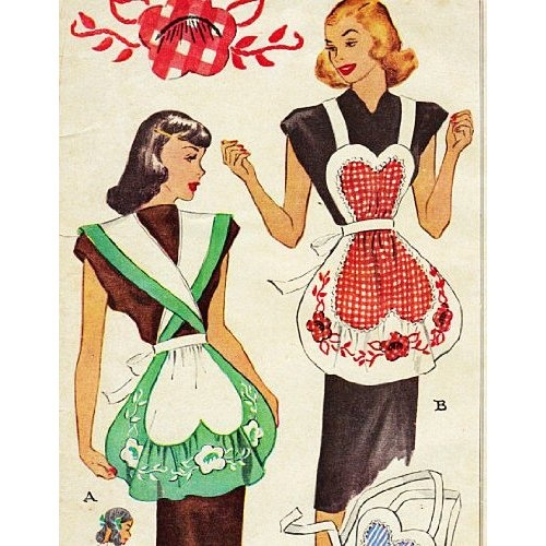 63 Best Images About Vintage Aprons On Pinterest Sewing