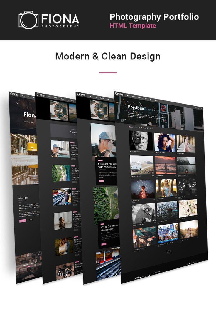 Website Theme , Fiona - Photo Gallery Portfolio
