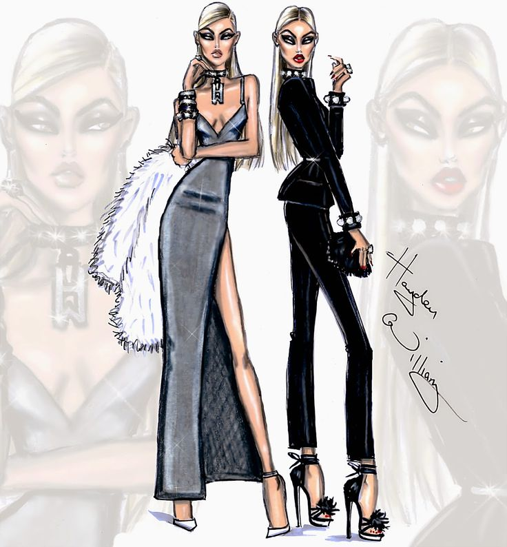 Hayden Williams Fashion Illustrations: 'Double Dose' by Hayden Williams