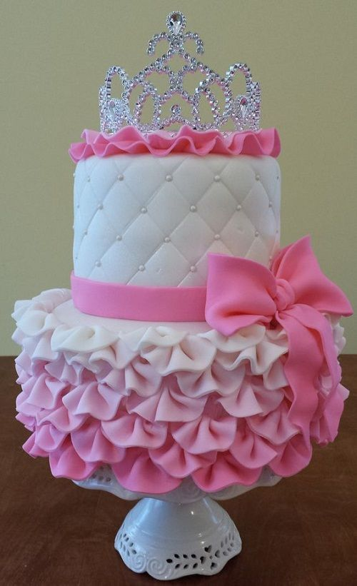 Princess+Gown+Birthday+Cakes+for+Girls