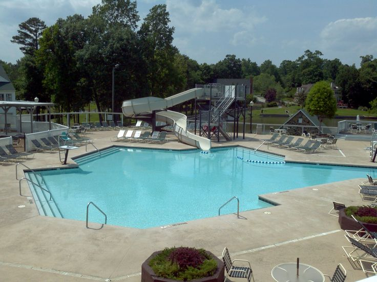 Community Pool Slide Adam 39 S Farm Neighborhood Pinterest Pool Slides