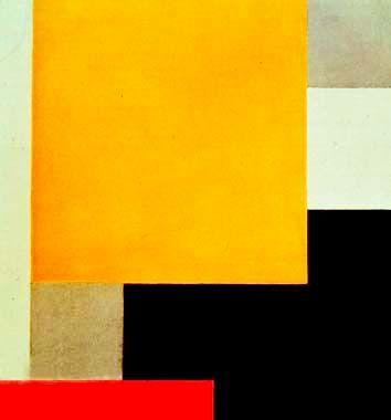 Theo Van Doesburg, Composition XXII, 1922 | yellow orange red black geometric abstract art