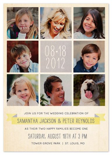 blended family wedding invitations | wedding invitations - Celebration of Family by Dawn Jasper