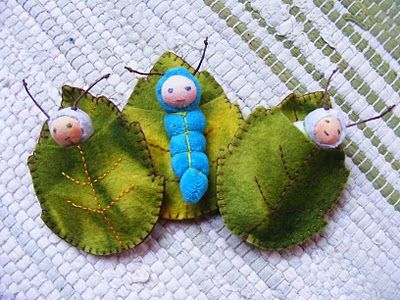 """leaf babies, I would have flipped for these as a little girl during my """"fairy"""" stage! Heck, I still would!"""