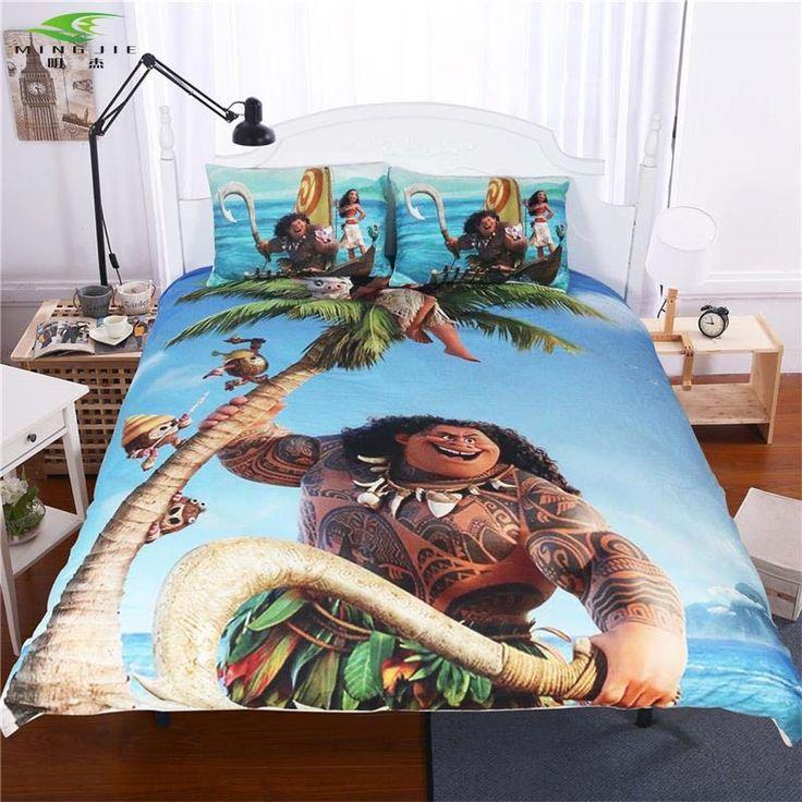 4042 buy here anime moana bedding set ocean cartoon