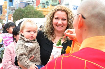 ANNUAL BUDDHA'S DAY BABY BLESSING CEREMONY @ Federation Square. Register online http://fgsmelb.blogspot.com.au/2014/02/2014-buddhas-day-baby-blessing-ceremony.html