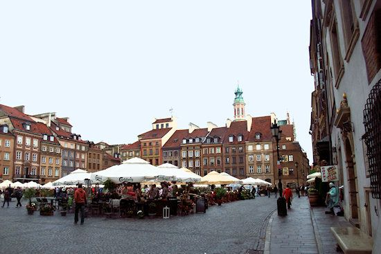 Central Square in Warsaw's Old Town.
