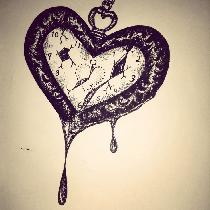 Broken Pocket Watch Tattoo Design 38 best Broken Heart T...