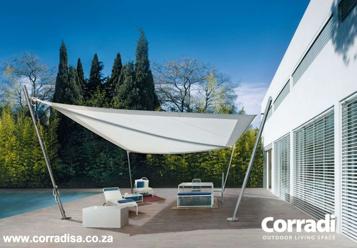 Intrepid - beautiful retractable sail awning, designed and manufactured in Italy, derived from genuine nautical technology.