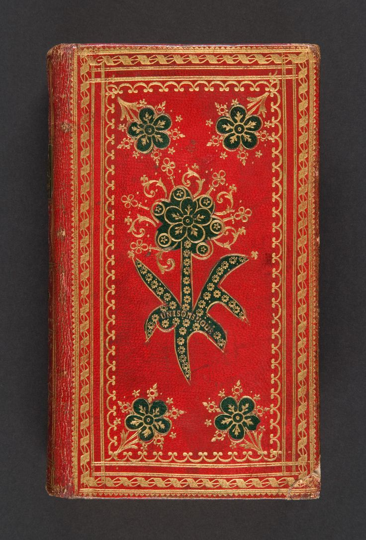 """This French-language Catholic missal contains prayers and devotions with an inscription on verso of front flyleaf: """"Monsieur Veniere aîné palais de justice Cour de la Chapelle Paris.""""<br/><br/>Contemporary French gold-tooled red morocco binding with dark green morocco flower onlays on covers and spine; all edges gilt; pink toned endleaves"""