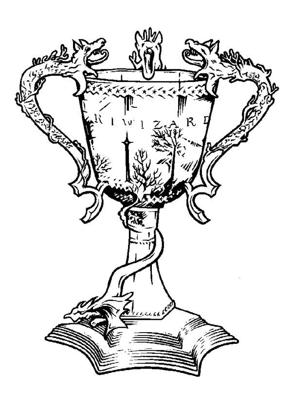 Free Trophy Coloring Pages Printable Arte Do Harry Potter Harry