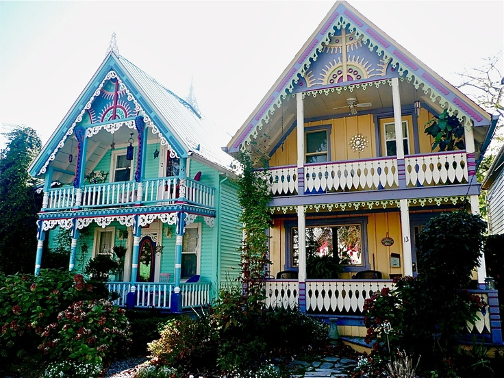 Painted houses in Grimsby, Ontario.