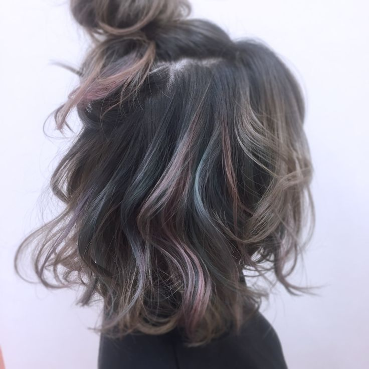 Grey with peacock tint